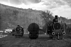 Old steam locomotives stock photo