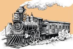 Old steam machine. From the wild west stock illustration