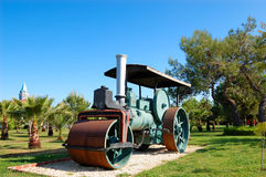 Old steam powered road roller Royalty Free Stock Images