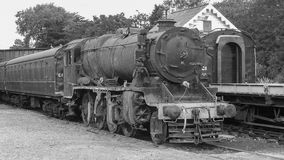 Old steam. Redundant old steam locomotive for scrap or refubishment stock photo