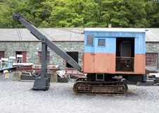Old Steam Shovel North Wales stock photo