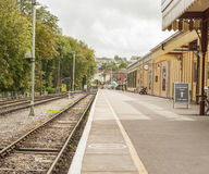 An Old Steam Time Railway Station Stock Photo