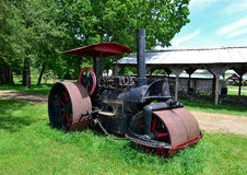 Old Steam Tractor. On farm in Laporte County, Indiana royalty free stock image