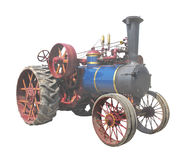 Old Steam Tractor isolated Stock Images
