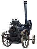 Old steam tractor isolated Royalty Free Stock Photo