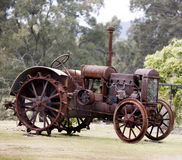 Old steam tractor Stock Images