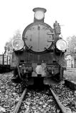 Old steam train. Part of old steam train in black and white Stock Photos