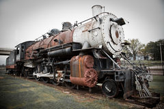 Old Steam Train. An old steam train at a train depot museum Royalty Free Stock Photos