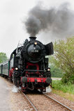 An old steam train Stock Photo