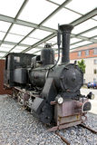 Old steam train. Display of an old steam train in the town of regensburg, germany Stock Photos