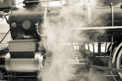 Old steam train in black and white Royalty Free Stock Image