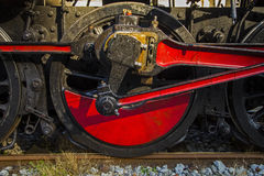 Old steam train - detail of the drive wheel. Full frame Royalty Free Stock Image