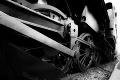 Old steam train detail royalty free stock image