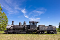 Old Steam Train Engine with Copy Space Stock Image