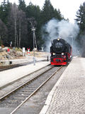 Old steam train on a German mountain Royalty Free Stock Photo