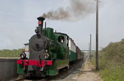 Old steam train in Holland Stock Photography
