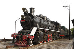 Old steam train on isolated background Stock Photography