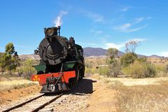 Old steam train locomotive Royalty Free Stock Images