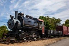 Old steam train locomotive Stock Photo