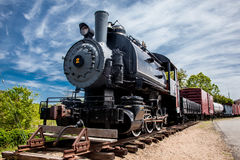 Old steam train locomotive. ESSEX - MAY 24: Connecticut Valley Railroad Steam Train Locomotive  in Essex,  Connecticut , USA on May 24, 2015 Royalty Free Stock Image