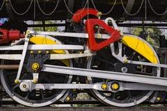 Old Steam Train Locomotive Wheels. NJP Railway Station, Siliguri, West Bengal, India Royalty Free Stock Images