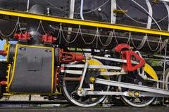 Old Steam Train Locomotive Wheels. NJP Railway Station, Siliguri, West Bengal, India Royalty Free Stock Photography