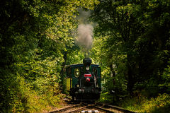 Old steam. Train passing through countryside Royalty Free Stock Images