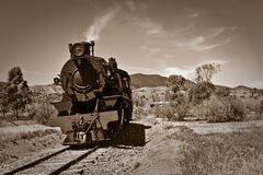 Old steam train sepia  Stock Photo