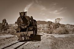 Old steam train sepia stock photo