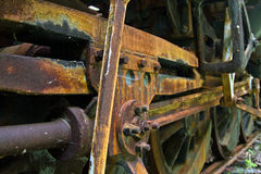 Old Steam Train Undercarriage Royalty Free Stock Photography