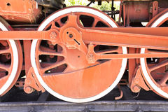 Old steam train wheel Royalty Free Stock Images