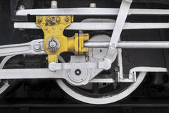Old Steam Train Wheel Detail. Jodhpur Railway Station, Jodhpur, Rajasthan, India Stock Image