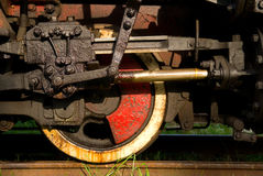 Old Steam Train Wheels Stock Photos