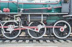 Old Steam train, wheels Stock Photos