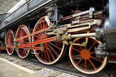 Old Steam train, wheels Royalty Free Stock Image