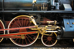 Old Steam train, wheels Royalty Free Stock Photos