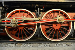 Old Steam train, wheels Royalty Free Stock Photo