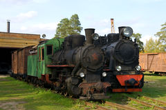 Old steam trains royalty free stock photos