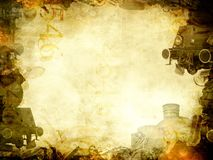 Old steam trains background frame Royalty Free Stock Image