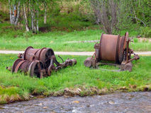 Old steam winch Stock Photos