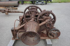 An old steam winch used in the yukon mines. Royalty Free Stock Photo