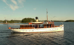 Old steamboat. On lake Saimaa, Finland Royalty Free Stock Image