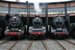 Old steamer locomotives stock photography