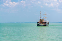 Old steamship in Balaton Stock Images