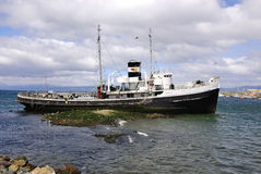 Old steamship Stock Photo