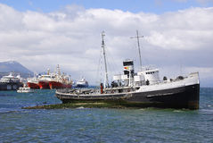Old steamship Royalty Free Stock Images