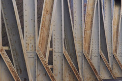 Old Steel Bridge Construction Royalty Free Stock Images