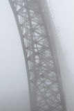 Old steel bridge in the mist Royalty Free Stock Photography
