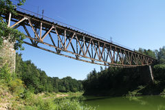 The old steel bridge 2 Royalty Free Stock Photography