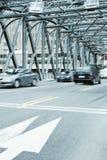 Old steel bridge in shanghai Royalty Free Stock Photos